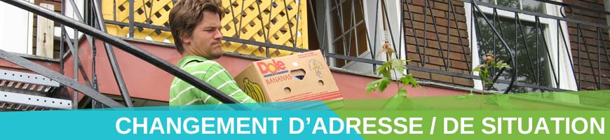 changement adresse situation